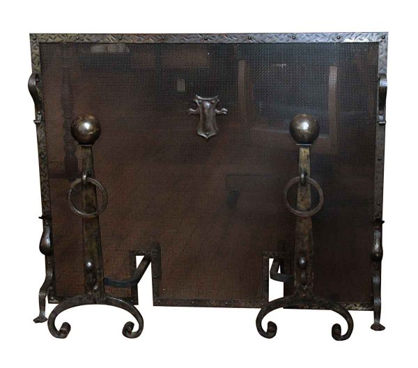 Arts & Crafts Wrought Iron Fireplace Set - Screens & Covers