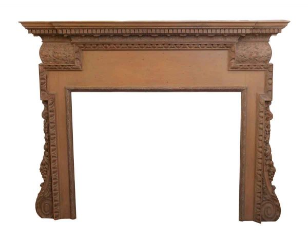 Neoclassical Carved Wood Mantel - Mantels