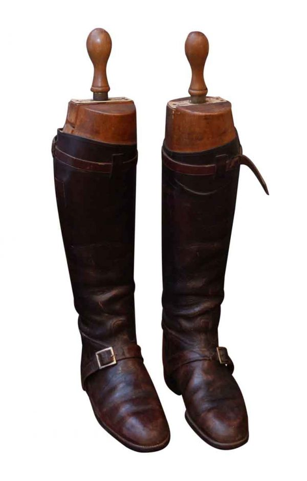 Vintage English Polo Boots with Wooden Stretchers - Personal Accessories