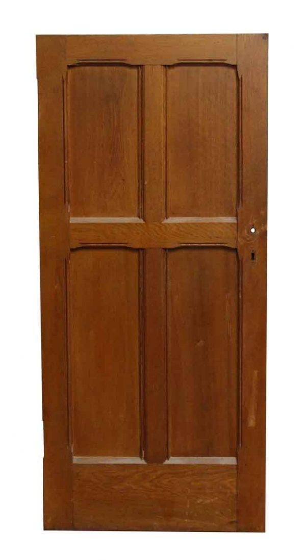 Four Panel Cherry Salvaged Door - Standard Doors