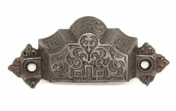 Cabinet & Furniture Pulls - Victorian Cast Iron Black Cup Drawer Pull