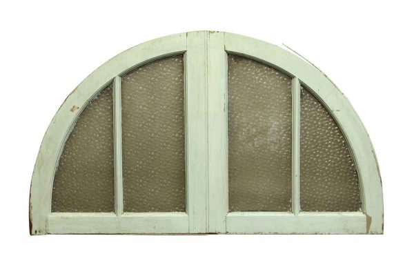 Door Transoms - Arched Transom Window with Textured Glass