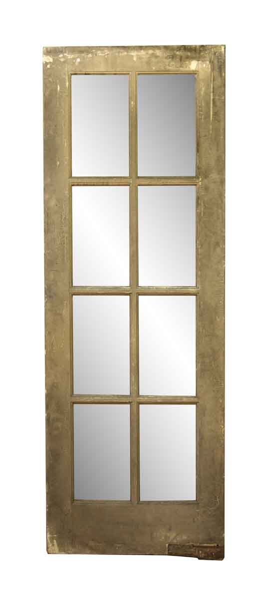 French Doors - Antique Old Wooden French Door with Eight Lites