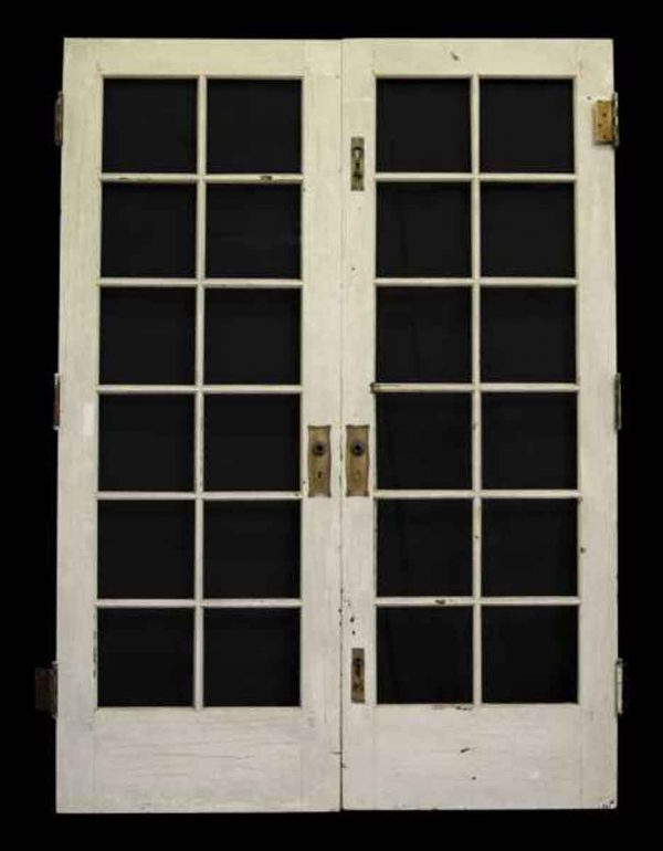 French Doors - Pair of Twelve Glass Panel French Doors