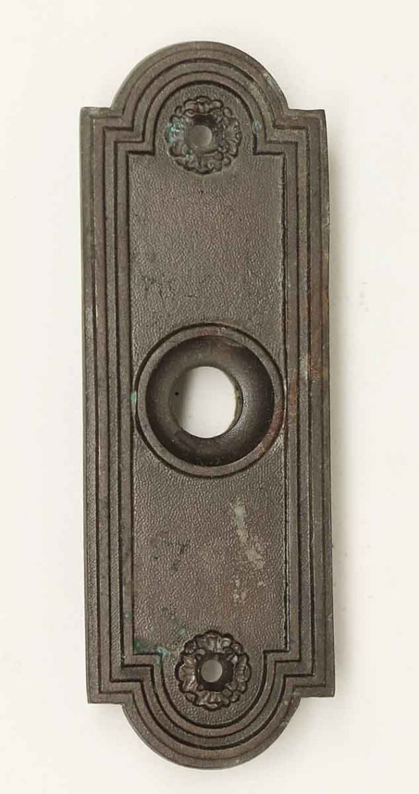 Knockers & Door Bells - Antique Art Deco Bronze Doorbell Cover