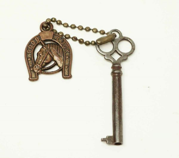 Skeleton Key with Good Luck Charm - Other Hardware