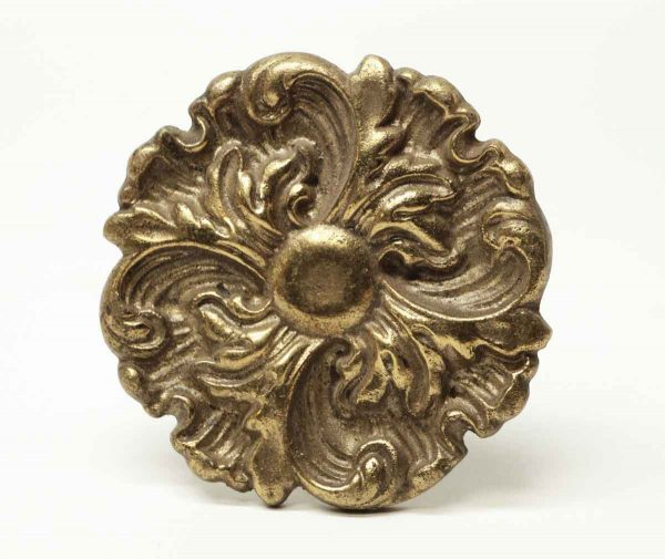 Single Floral Brass Tie Back - Curtain Hardware