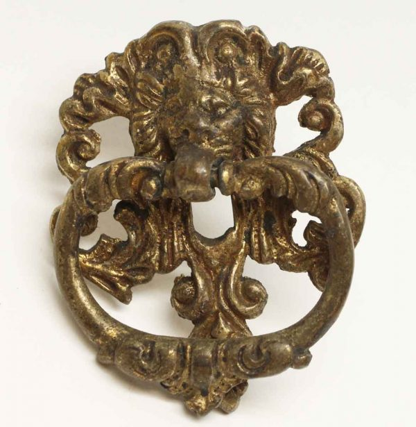 Cabinet & Furniture Pulls - Antique Brass Lion Drawer Drop Pull