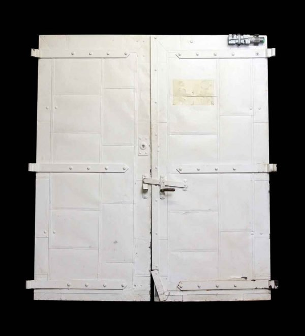 Commercial Doors - Old Pair of White Fire Doors