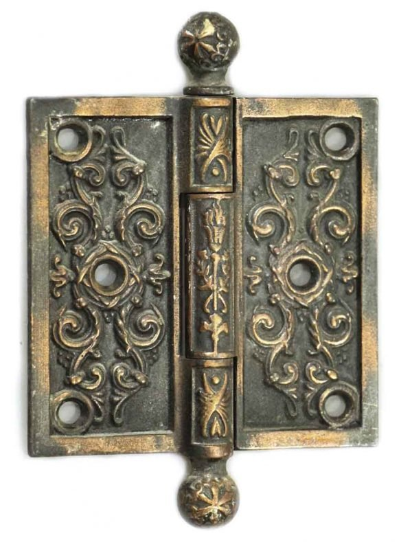 Door Hinges - Antique Ornate Ball Tip Victorian Hinge