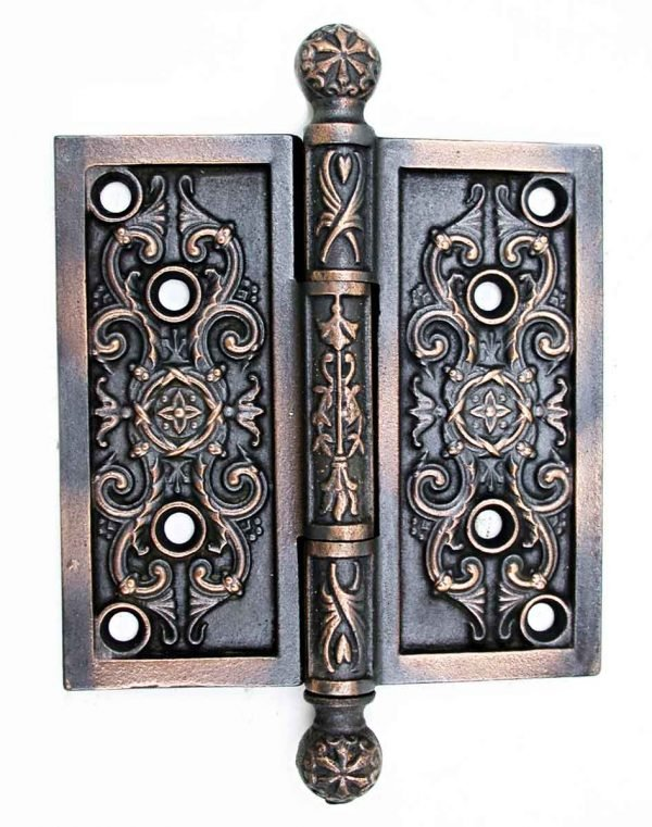 Door Hinges - Victorian Cast Iron Ball Tip Hinge
