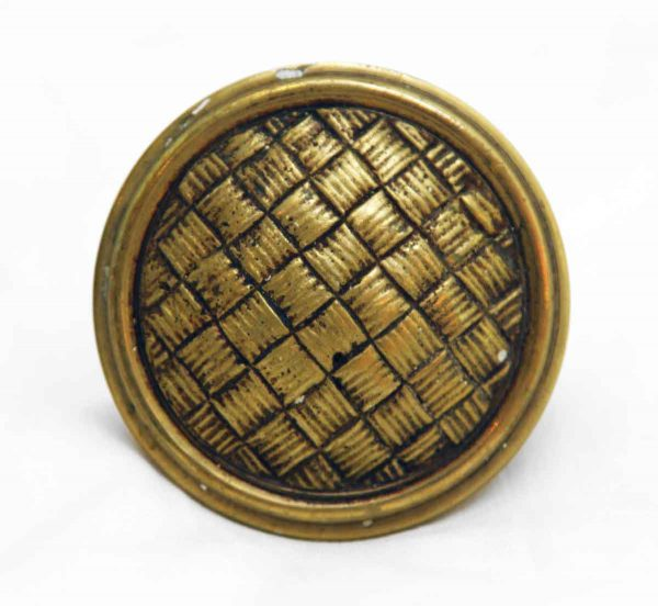Door Knobs - Antique Basket Weave Knob Set with Matching Rosettes