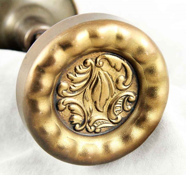 Door Knobs - Antique Reading Rococo Brass Door Knob Set