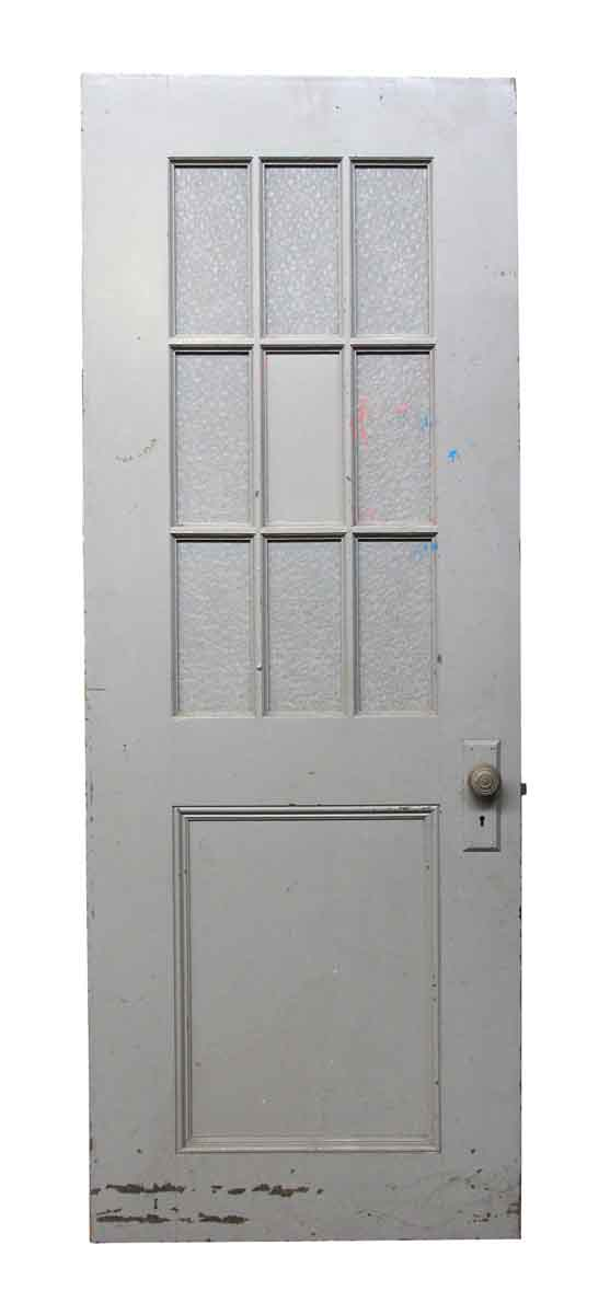 Entry Doors - Antique Entry Door with 9 Glass Panels