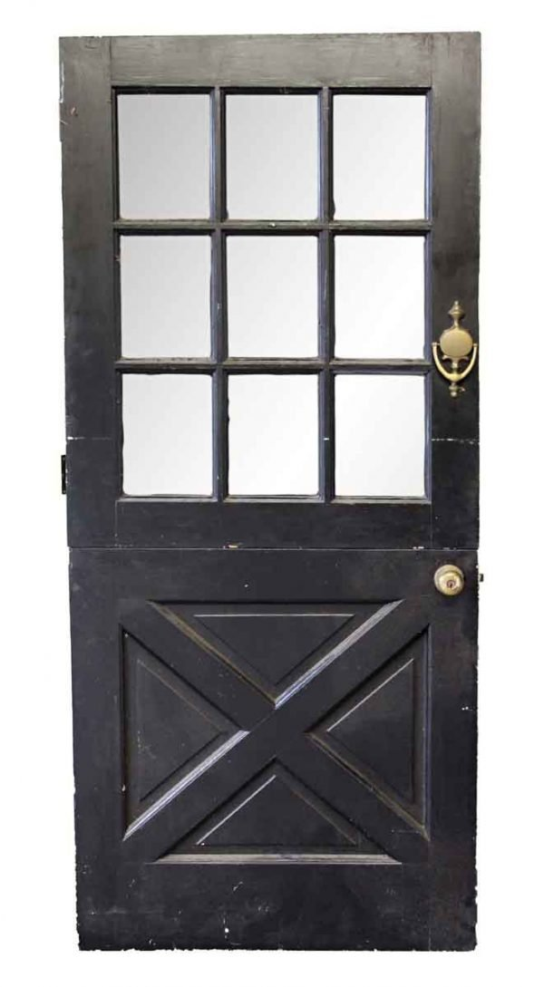 Entry Doors - Old Black & White Dutch Door