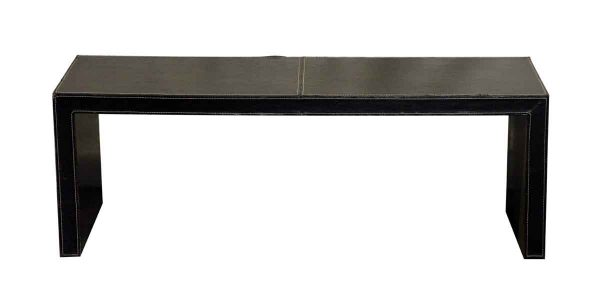 Seating - Modern Brown Leather Bench