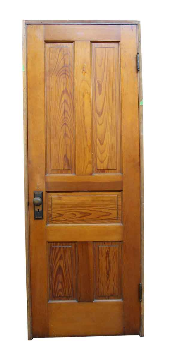 Standard Doors - Old Framed 5 Panel Interior Wooden Door