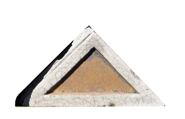 Stone & Terra Cotta - Glazed Terra Cotta Triangle Stone