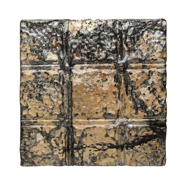 Tin Panels - Black & Tan Textured Tin Panel