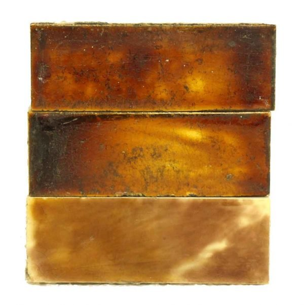 Wall Tiles - Set of 17 Antique Brown Hearth Tiles