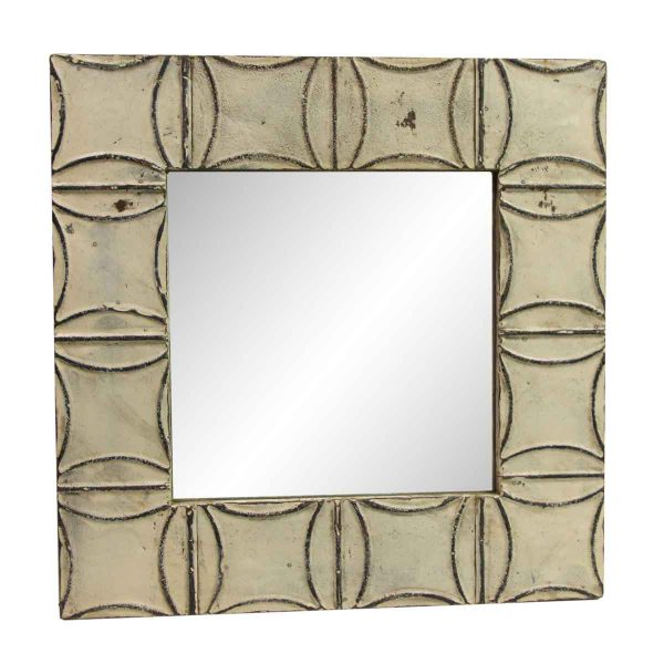 Antique Tin Mirrors - Handmade Curved Square Tin Mirror