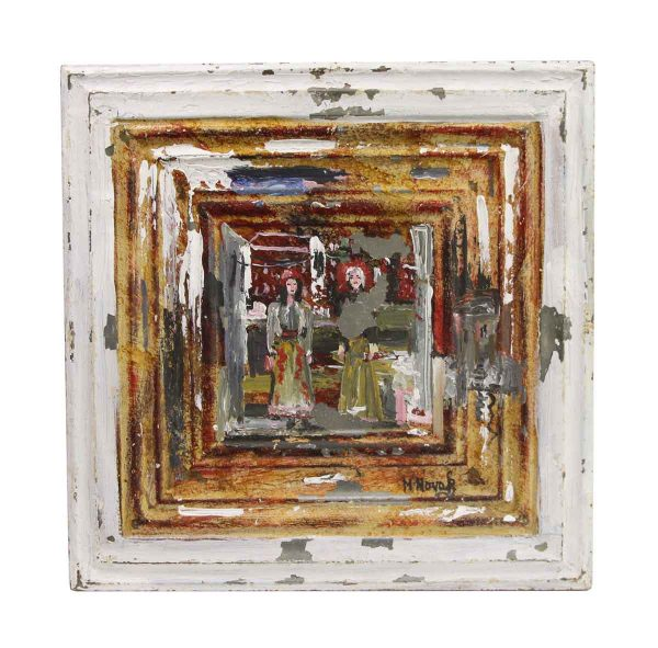 Hand Painted Panels - Hand Painted Abstract Novak Tin Painting