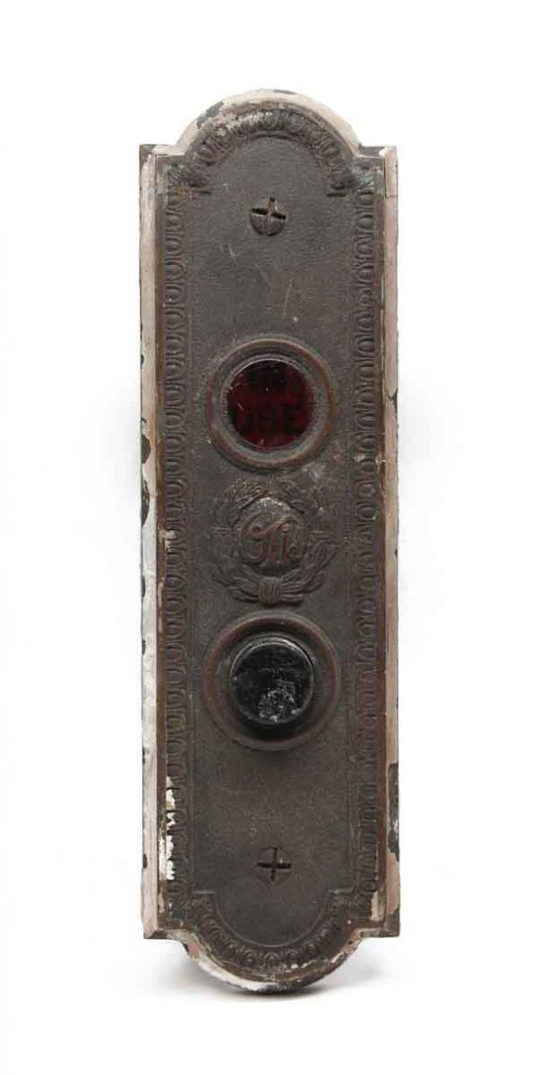 Elevator Hardware - Antique Otis In Use Bronze Elevator Plate