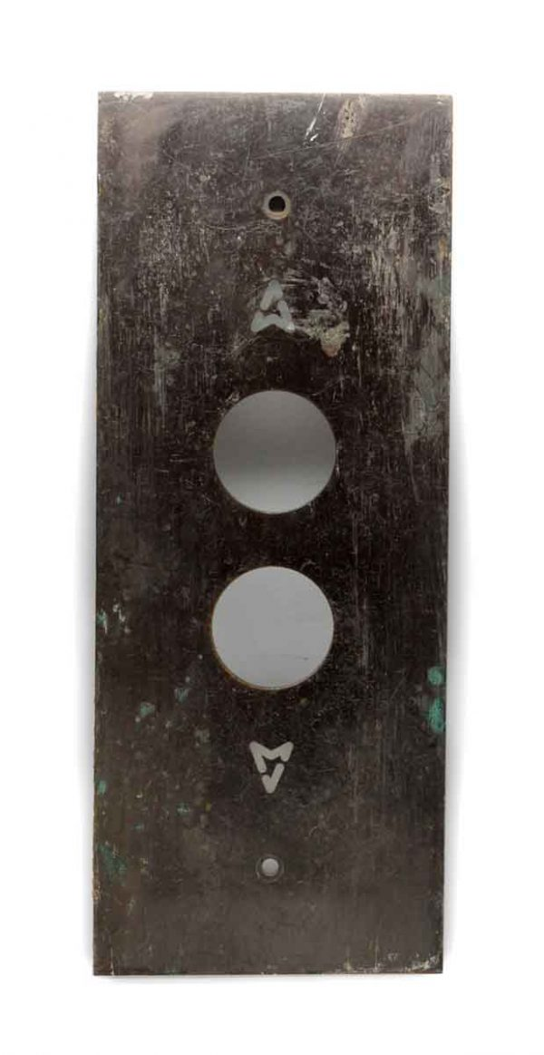 Elevator Hardware - Classic Bronze Two Button Elevator Plate