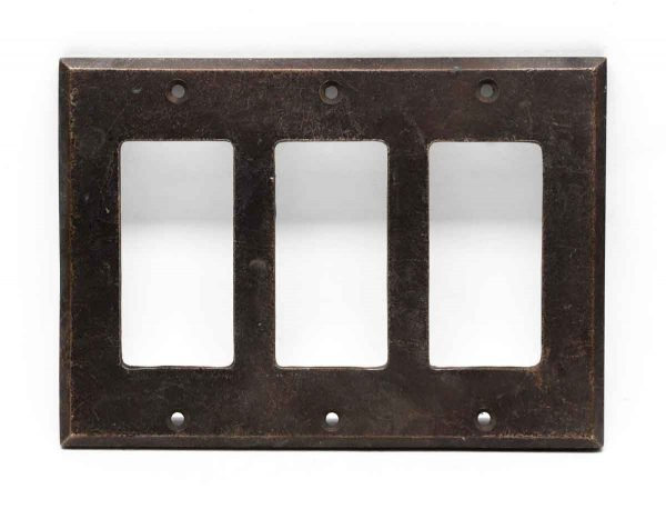 Lighting & Electrical Hardware - Bronze Triple Outlet Cover