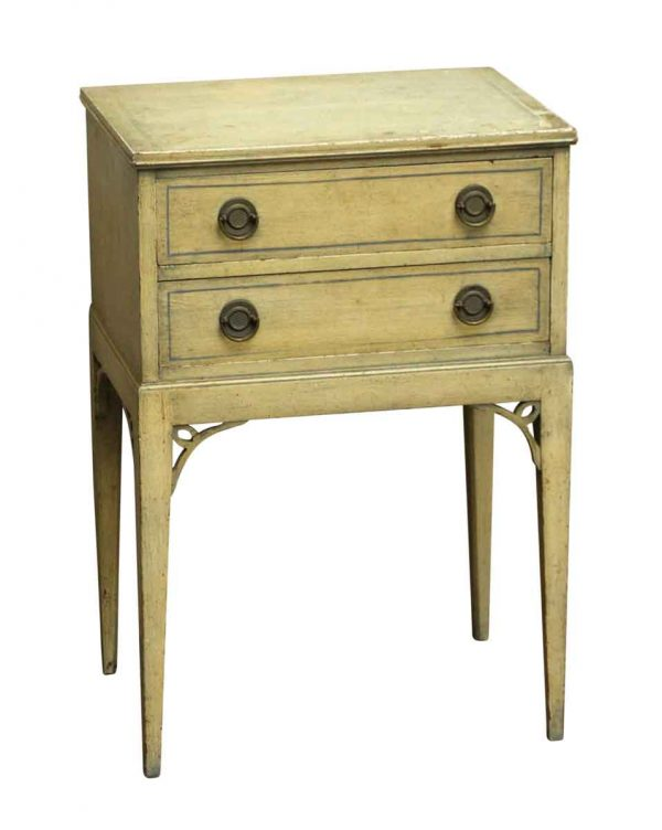 Bedroom - Salvaged Petite Tan Night Stand