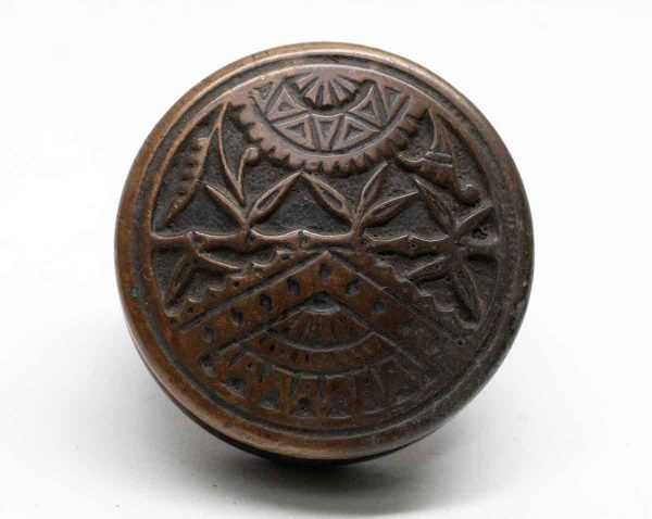 Door Knobs - Antique Branford Bronze Entry Vernacular Door Knob