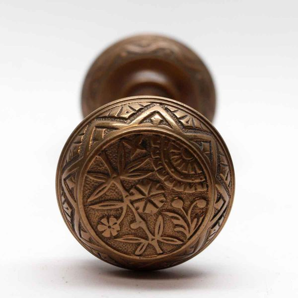 Door Knobs - Antique Brass Vernacular Door Knob Set
