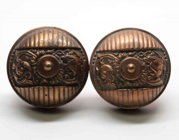 Door Knobs - Antique Italian Renaissance Bronze Door Knob Set