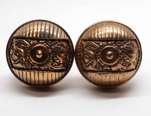 Door Knobs - Antique Polished Bronze Italian Renaissance Door Knob Set