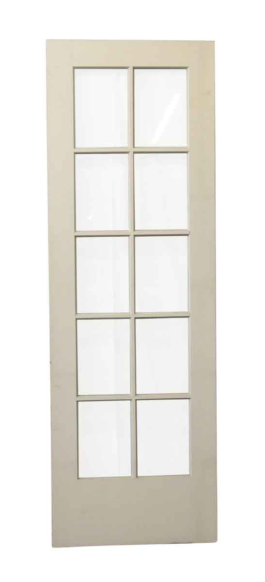 French Doors - Old 10 Glass Panel White French Door
