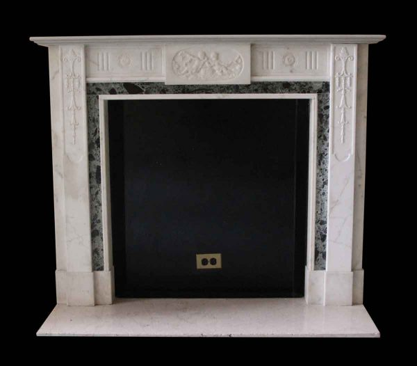 Mantels - Salvaged Waldorf English Regency Carrara Marble Mantel