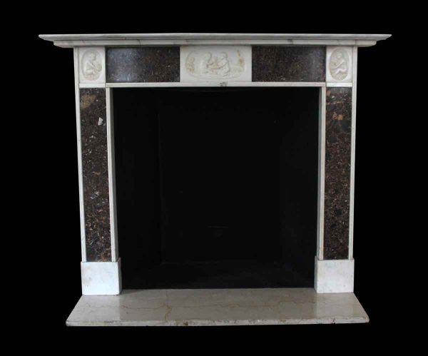 Mantels - Salvaged Waldorf English Regency Mantel with Inset Fossil Marble