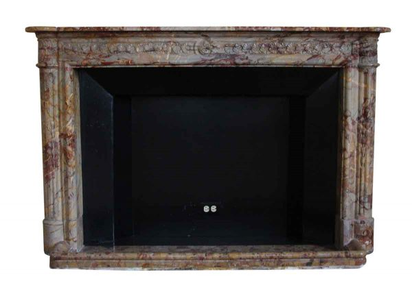 Mantels - Salvaged Waldorf French Regency Carved Brown Mantel