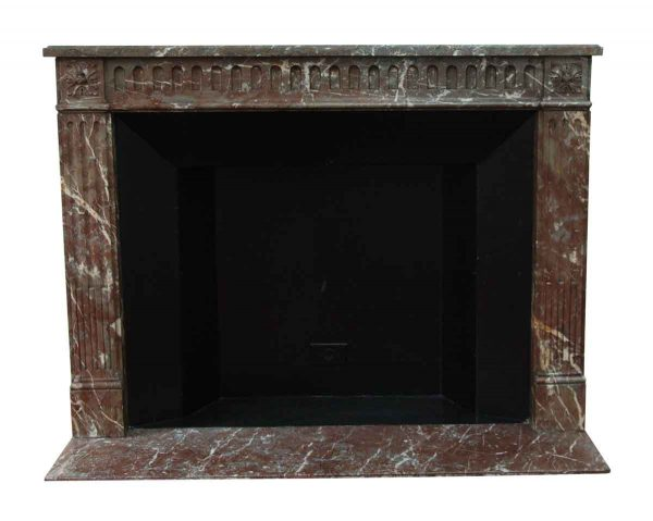 Mantels - Salvaged Waldorf French Regency Carved Marble Mantel