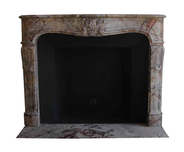Mantels - Salvaged Waldorf Louis XV French Rococo Marble Mantel