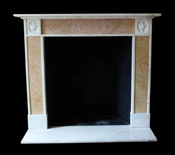 Mantels - Salvaged Waldorf Statuary Regency Marble Mantel