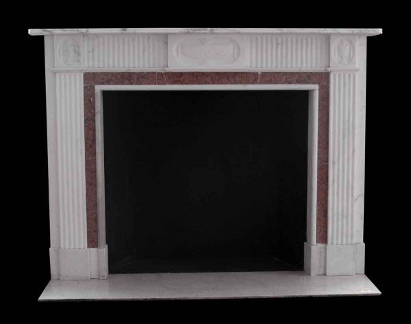 Mantels - Salvaged Waldorf Statuary White Marble Mantel