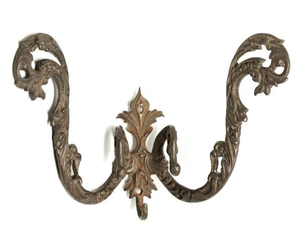 Single Hooks - Double Arm Gilded Bronze Hook