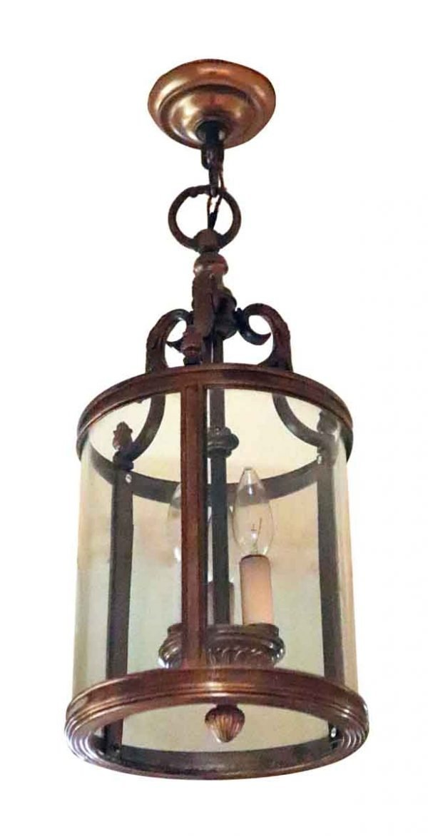 Wall & Ceiling Lanterns - Salvaged Waldorf Hanging Lantern Vestibule Light