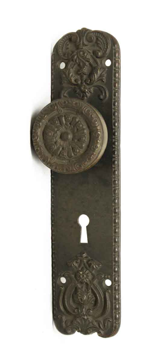 Door Knob Sets - Antique Chicago Niles Bronze Door Knob Set