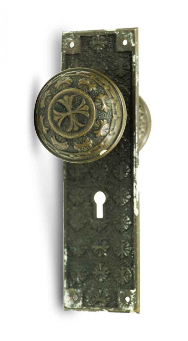 Door Knob Sets - Antique Nashua Entry Door Knob Set