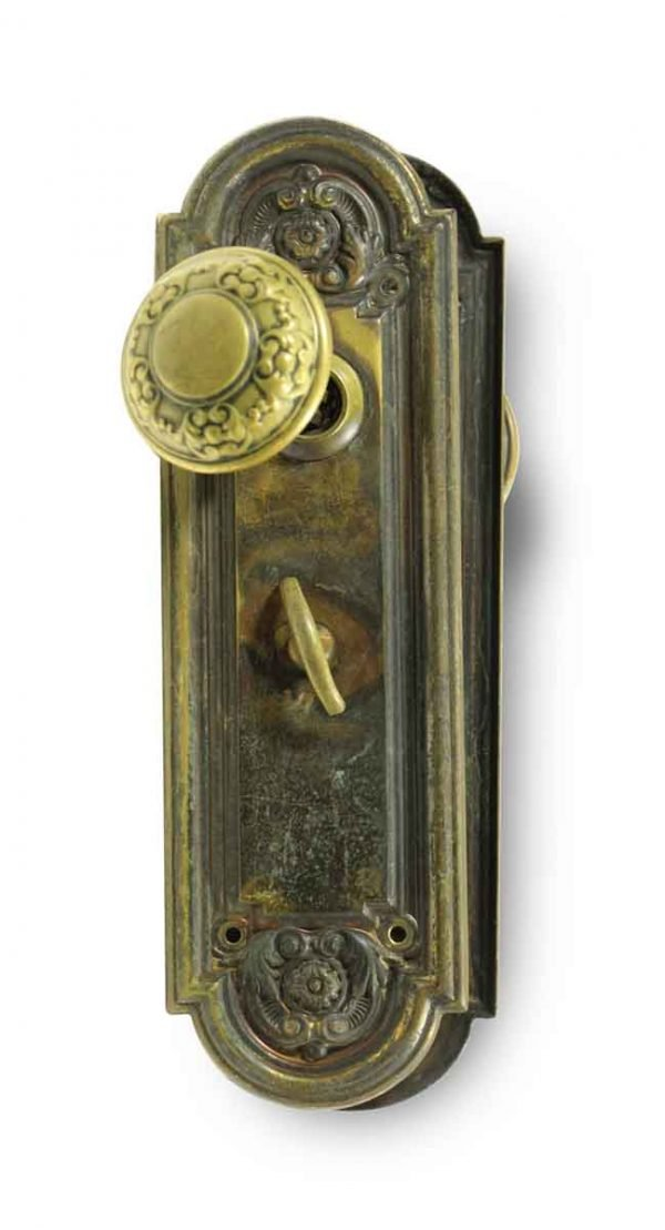 Door Knob Sets - Antique Yale & Towne Entry Door Knob Set