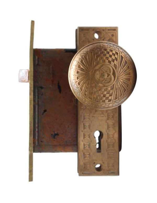 Door Knob Sets - Mallory Wheeler Bronze Door Knob Set with Lock