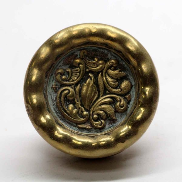 Door Knobs - Antique Polished Bronze Decorative Rococo Door Knob