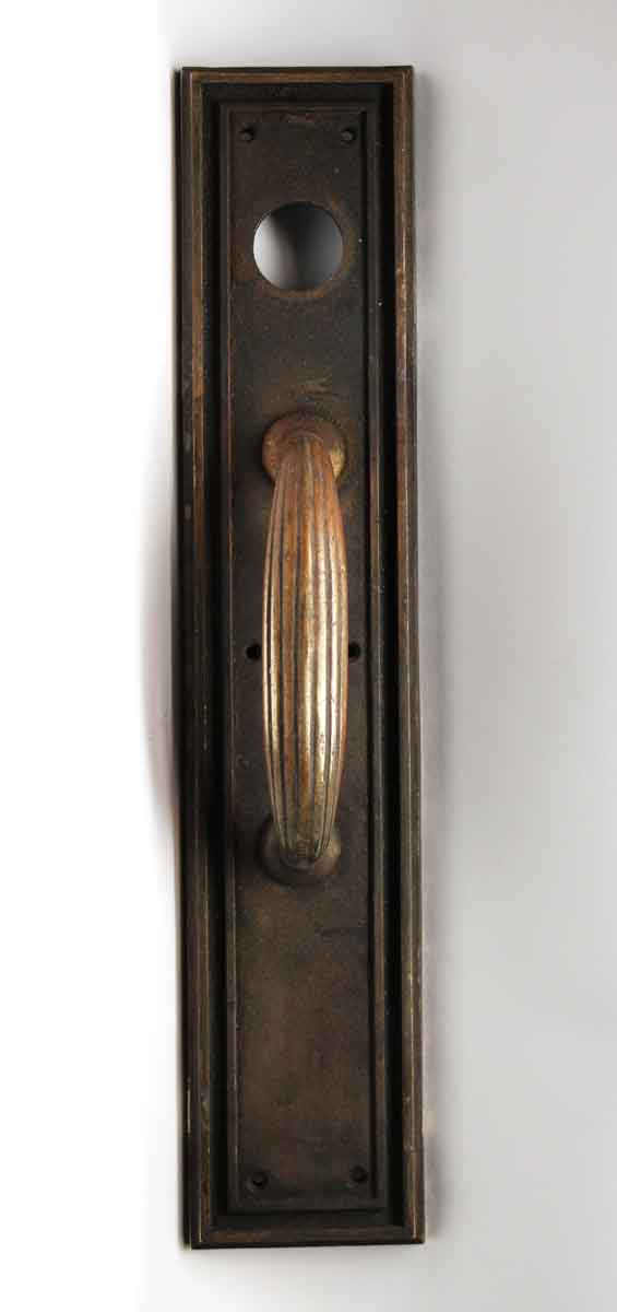 Door Pulls - Antique Art Deco Russwin Bronze Door Pull